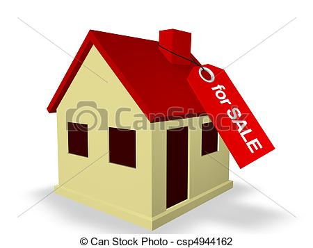 Clip Art of House for Sale.