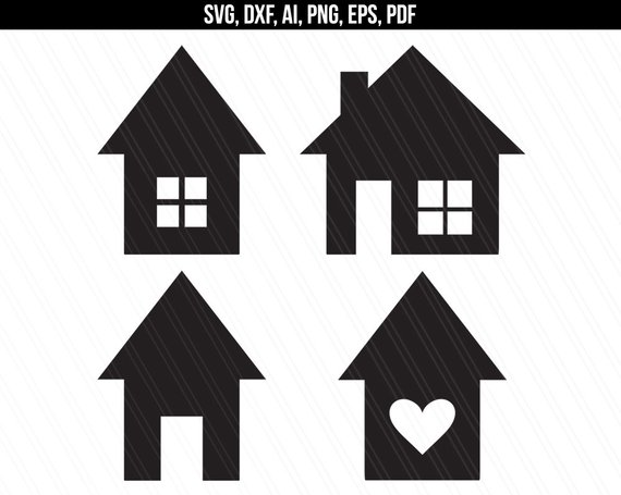 House Svg, Home svg, House vector, Clipart, House shapes.