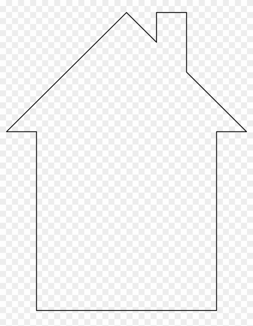 White House Clipart House Shape.