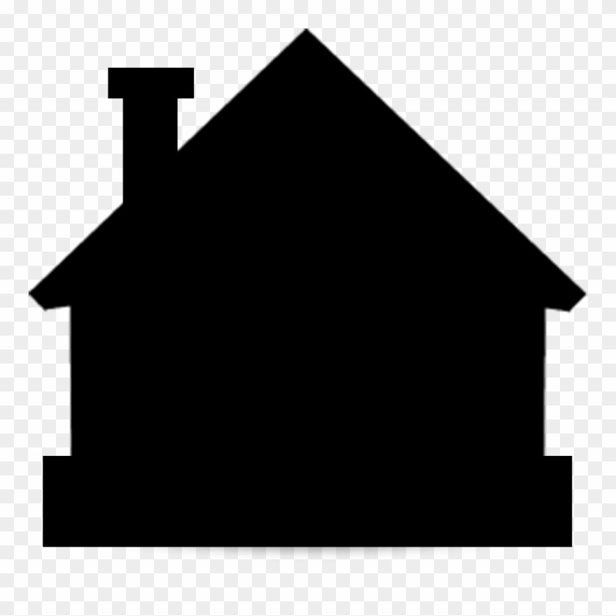 House Silhouette Png.