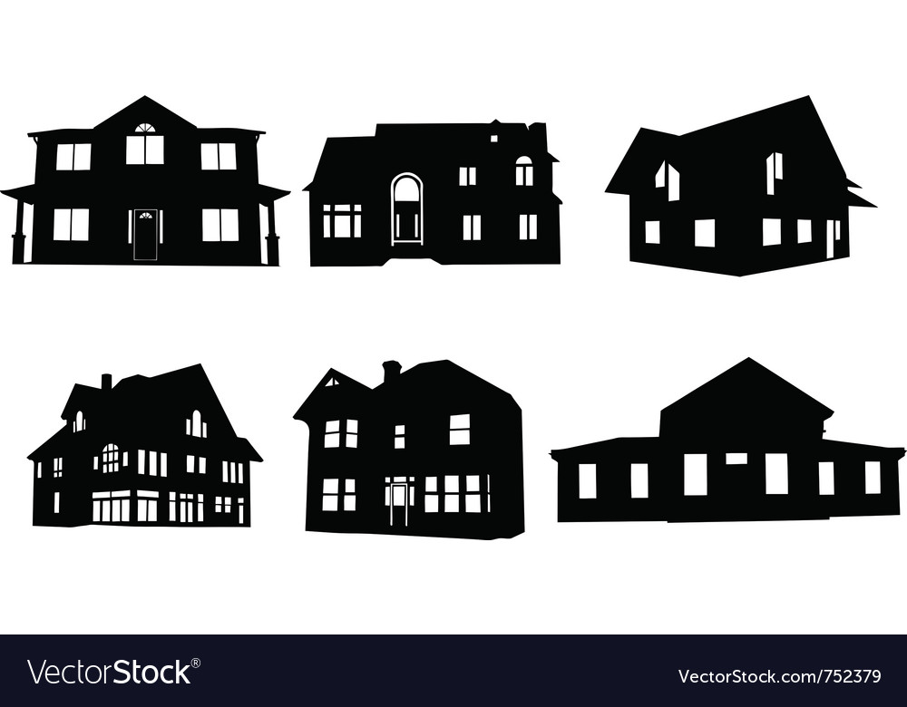 House Silhouette Vector.