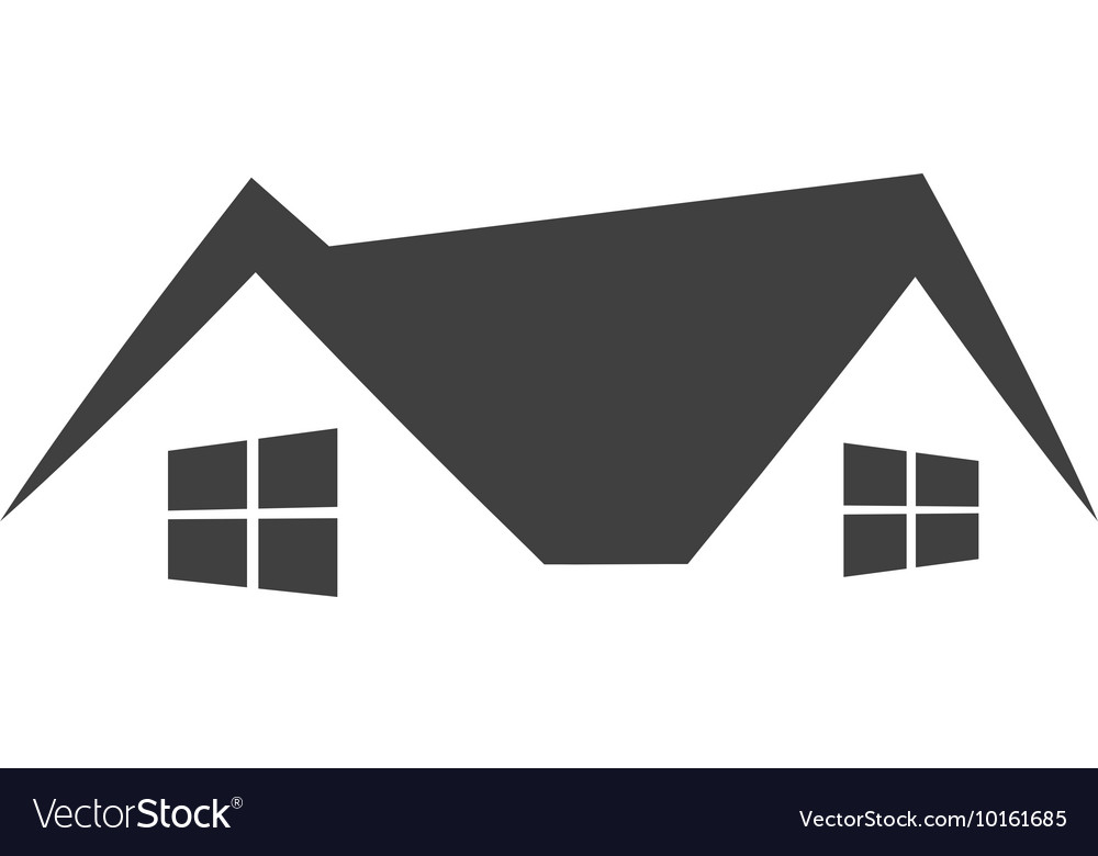 Home house silhouette icon graphic.