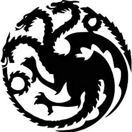 Game of Thrones House Targaryen Khaleesi Dragons Logo Vinyl Sticker Decal  HBO for Car Truck Mac (11\