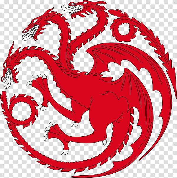 Daenerys Targaryen House Targaryen Sigil Decal Sticker.
