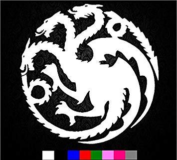 Game of Thrones House Targaryen Sigil Vinyl Sticker Decal HBO Logo Car  Truck Mac (5.5\