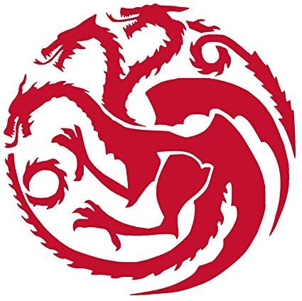 House Targaryen Dragon Game of Thrones Vinyl Sticker Decal (4\