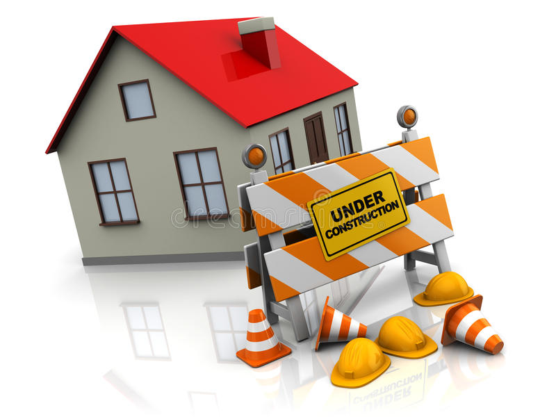 House Under Construction Stock Illustrations.
