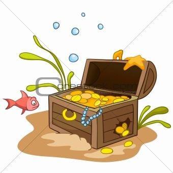 Underwater Treasure Chest Clip Art office.