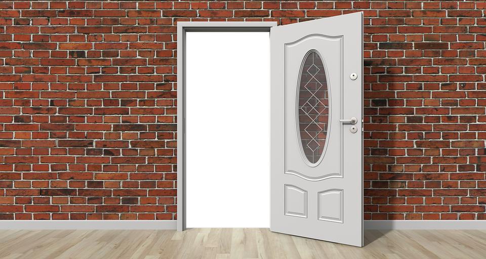Door Open Wall.