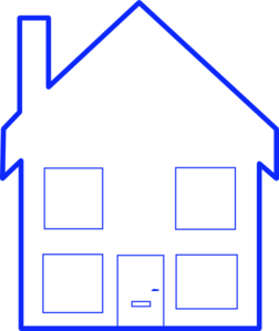 Four Window House Clip Art at Clker.com.