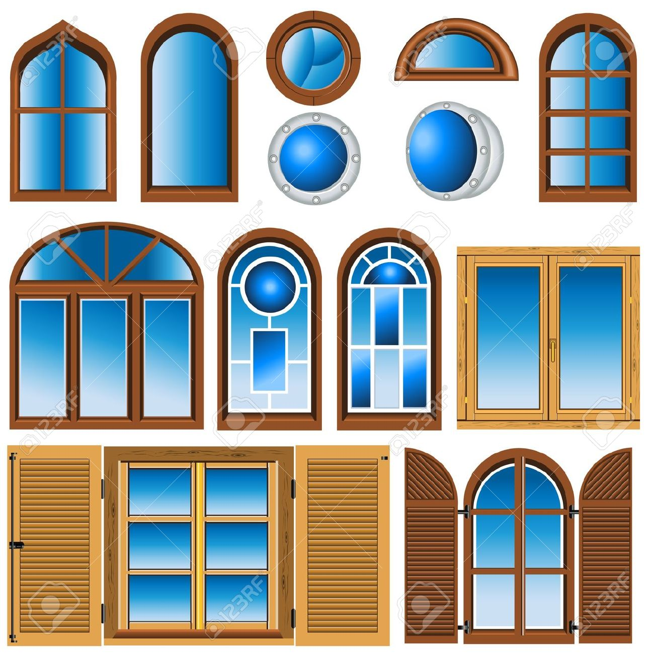 House Windows Clip Art.