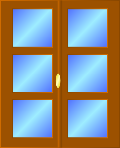 House windows clipart 2.