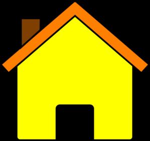 Yellow House 2 Clip Art at Clker.com.