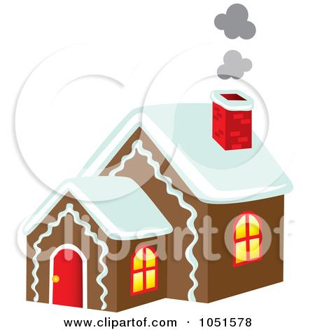 Gingerbread house chimney clipart.