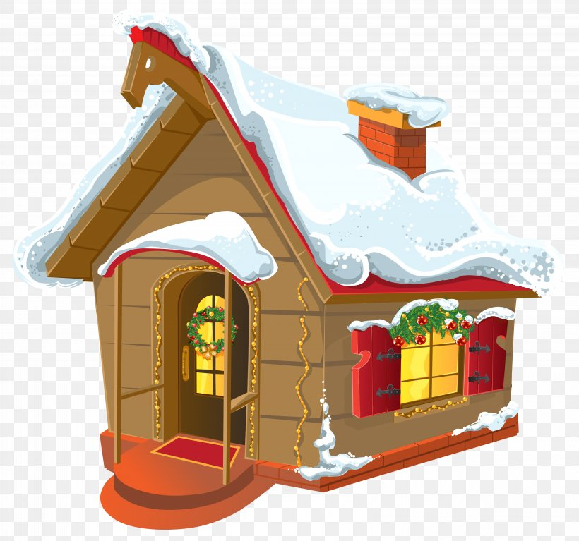 Christmas House Clip Art, PNG, 6428x6015px, Gingerbread.