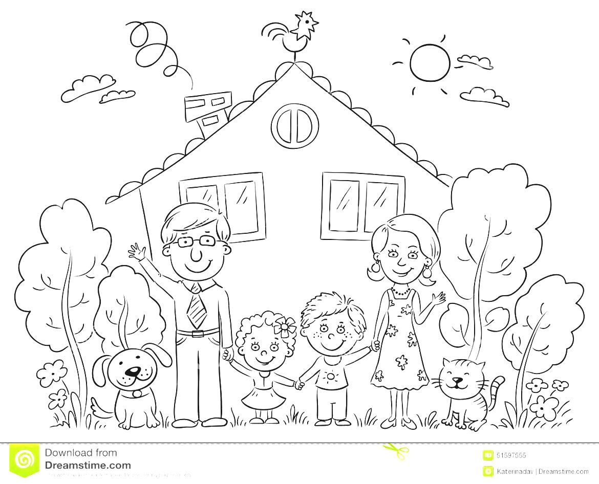 A Garden Black And White Gardening Clipart Family At The House.