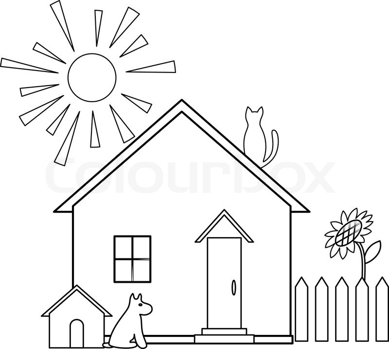 Small house, silhouette.