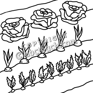 House With Garden Clipart Black And White.