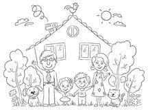 Cartoon Houses Stock Photography.