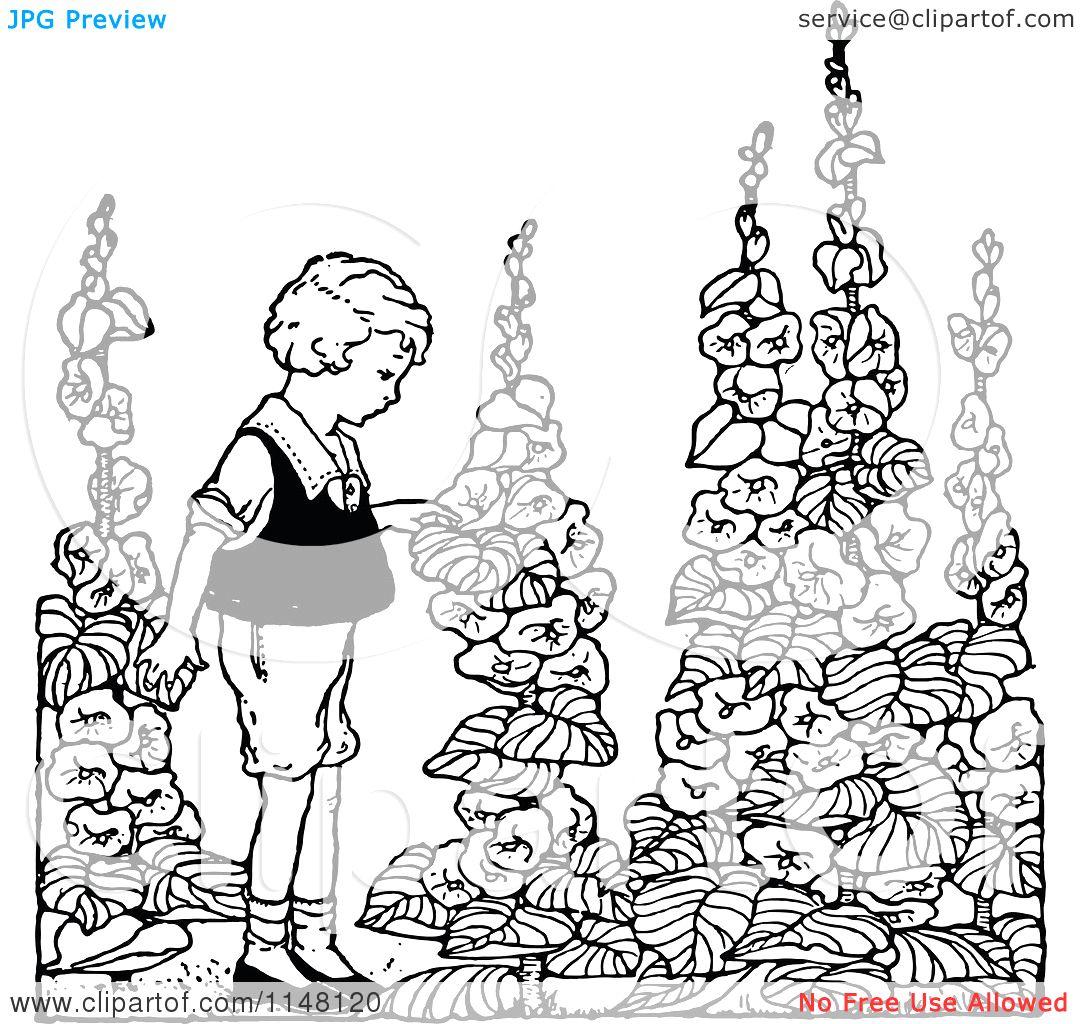 Flower Garden Ideas And Designs Clip Art.