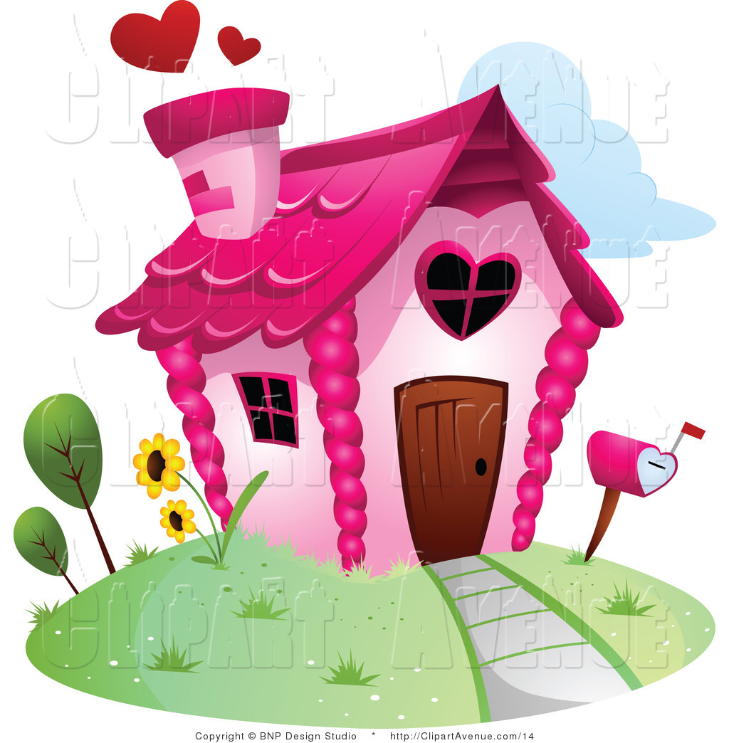 Showing post & media for Cartoon house clip art heart.