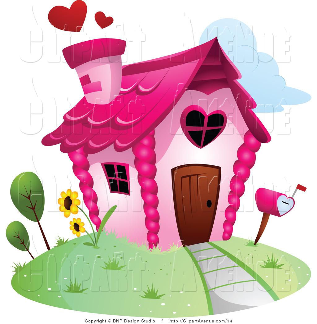 Showing post & media for Cartoon house clip art heart.