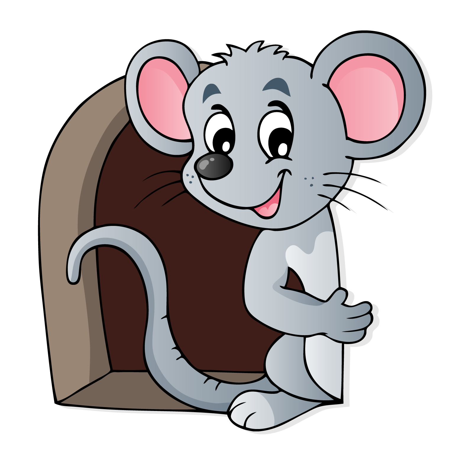 Mouse House Door Hole Wall Stickers.