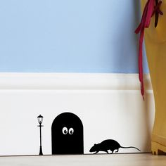 mouse hole decal $9.50.