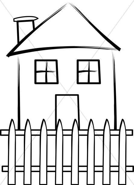House with Picket Fence.