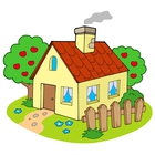 Quaint House with Picket Fence Isometric View by GeoImages.
