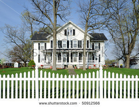 Picket Fence Stock Images, Royalty.