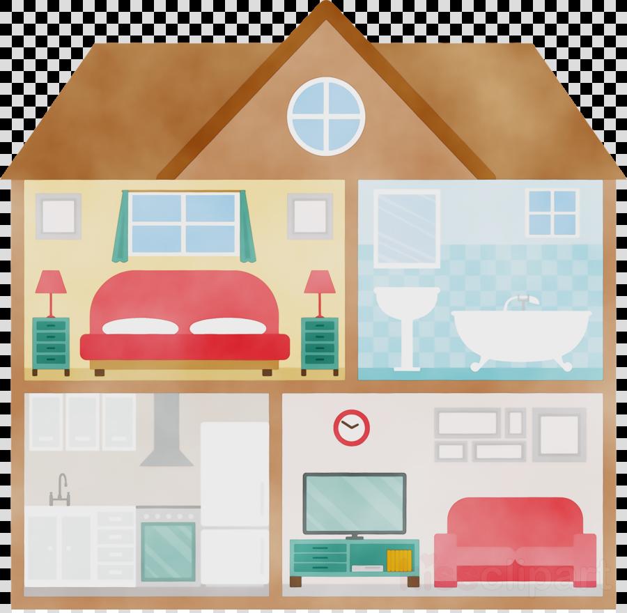 house room clip art home dollhouse clipart.