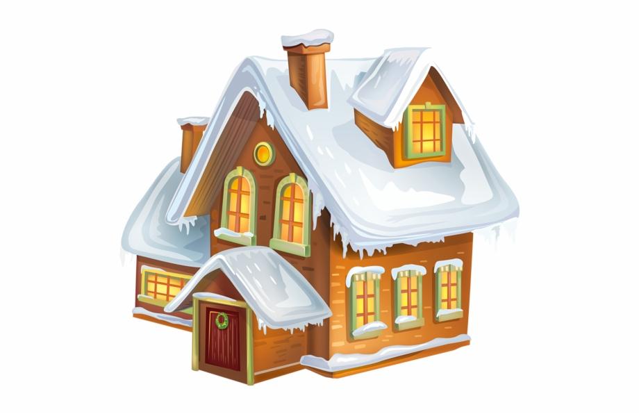Winter Snow Clipart Cabin.