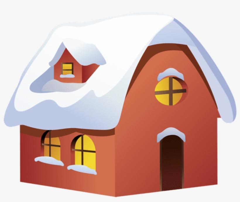 Winter House Transparent Png Clip Art Image.