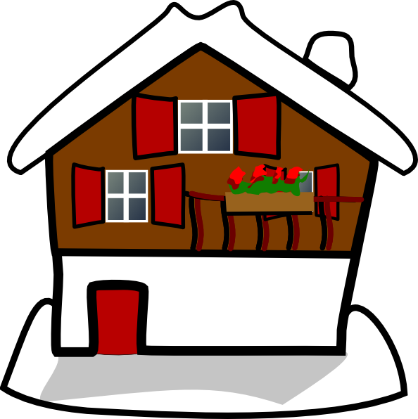 House Covered In Snow Clip Art.