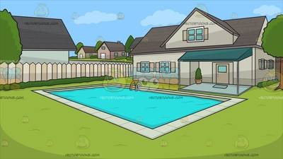 A House With Big Front Porch Background Cartoon Clipart.