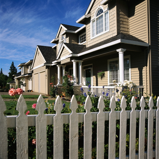 White Picket Fence House American Dream