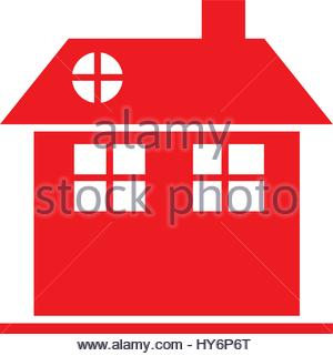 silhouette comfortable facade house with chimney without windows.