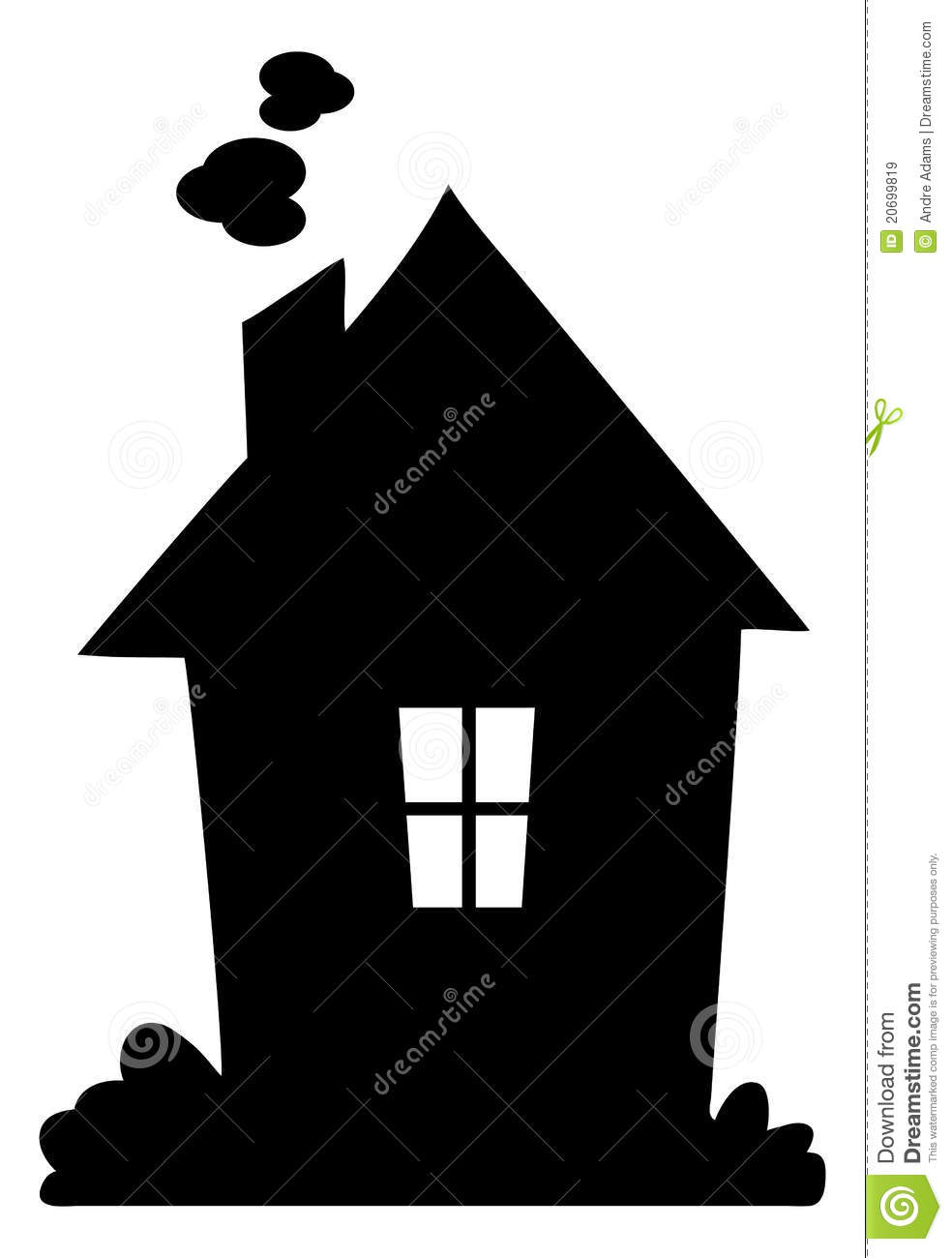 House Silhouette Royalty Free Stock Images.
