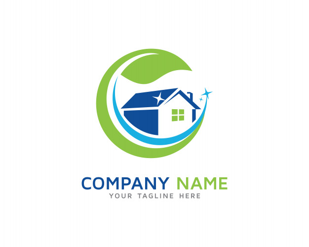 House cleaning logo design Vector.