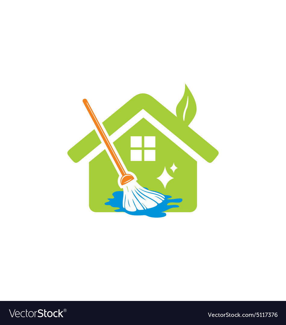 House cleaning service logo.