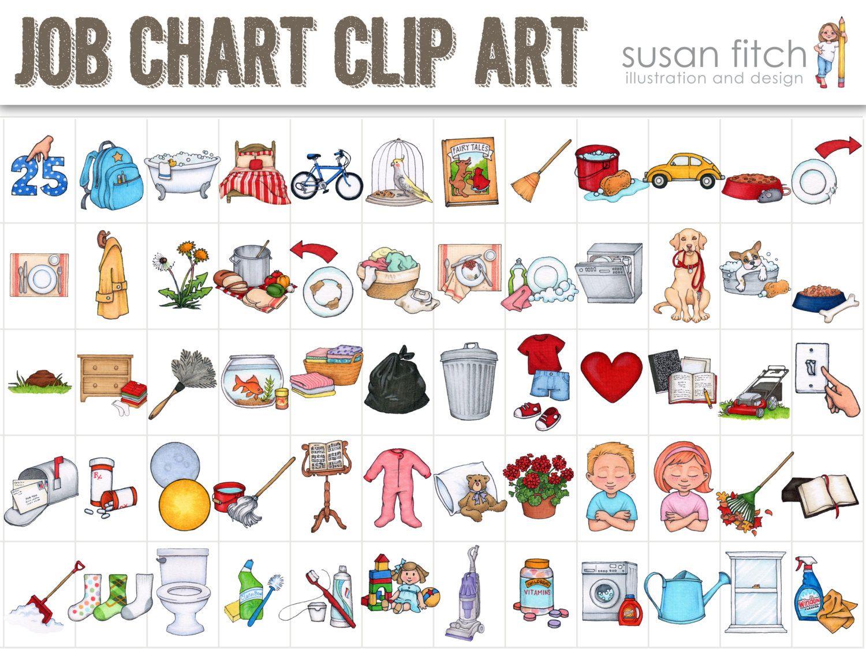 Job Chart Chore Chart Clip Art.