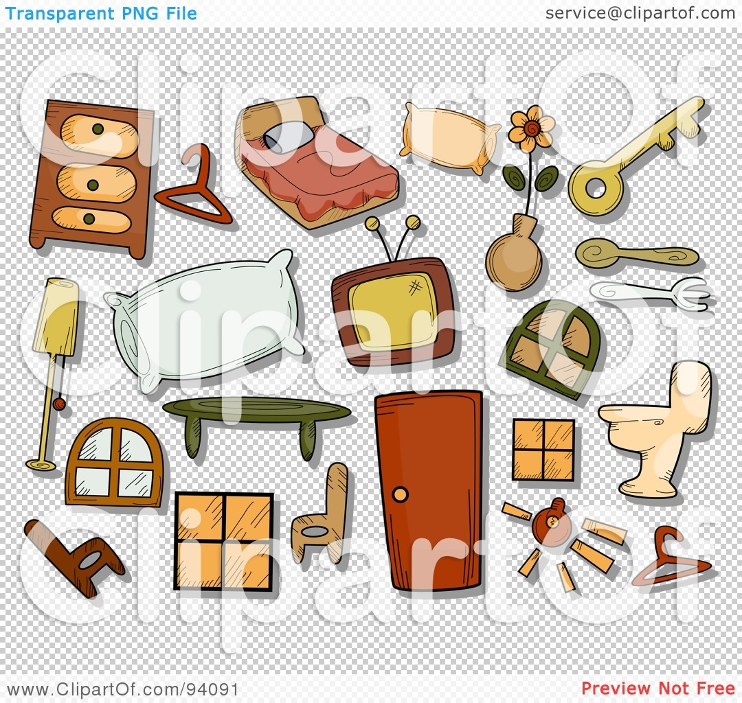 Image Gallery of Household Items Clipart.