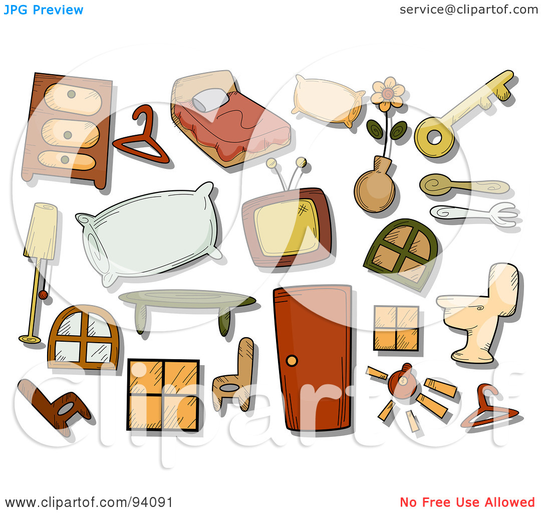 Household items clipart.
