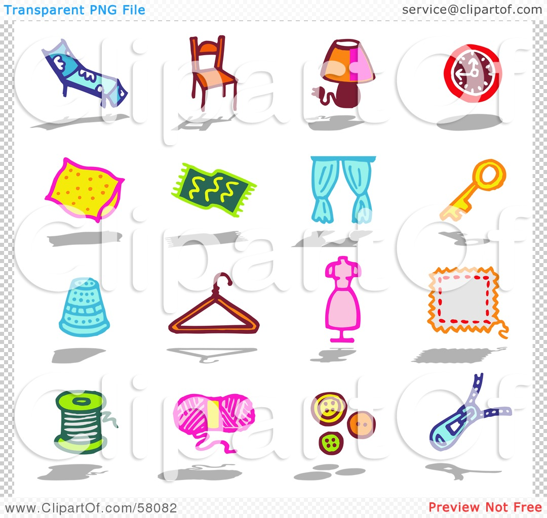 Clip Art Household Items.