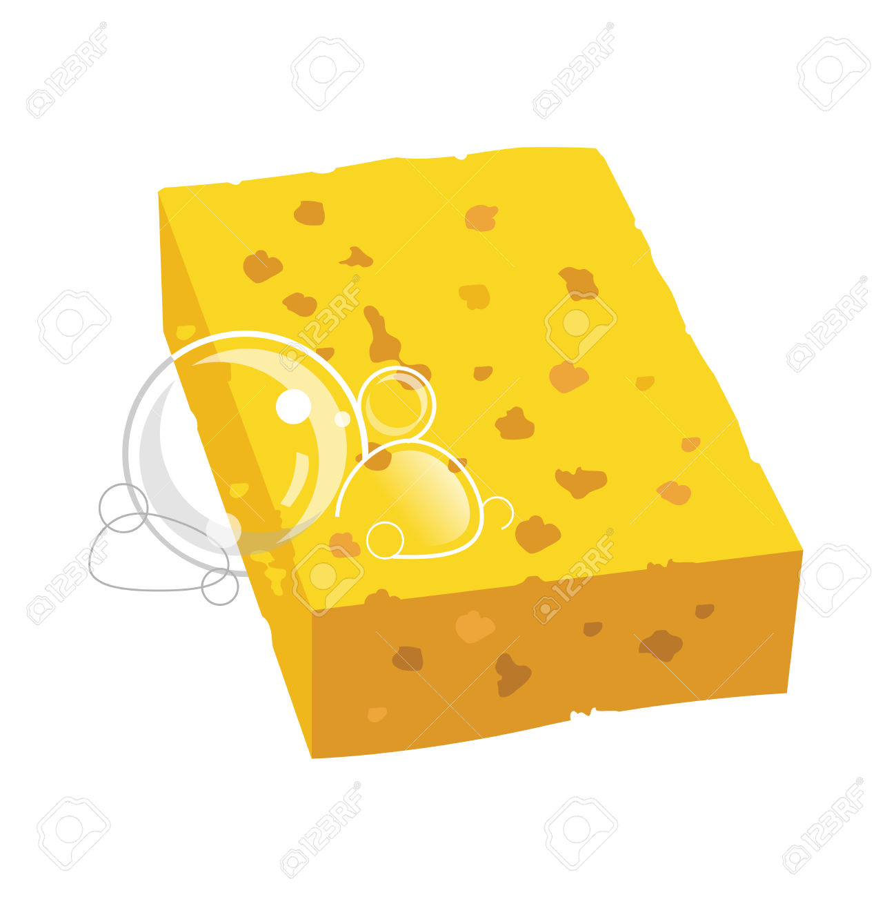 Household sponge clipart - Clipground