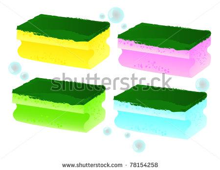 Kitchen Sponge Clipart.