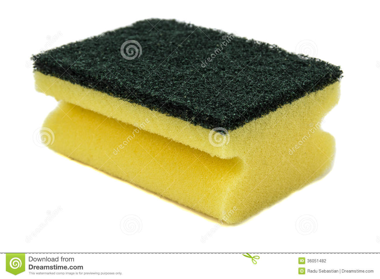 Household Cleaning Sponge Stock Photography.