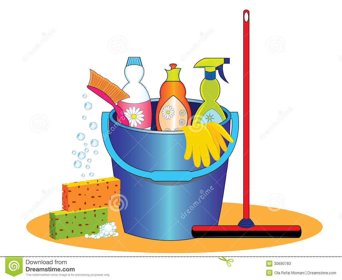 Clip Art Cleaning Tools Clipart.