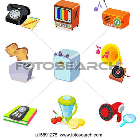 Stock Illustration of Various household objects u15891275.